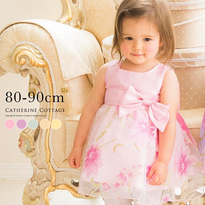 6069bcf4e9c04 楽天市場 ベビードレス YUP12 花柄オーガンジードレス 結婚式や出産祝い ...