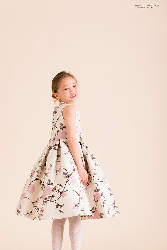 4208d04e0050c 楽天市場 発表会 ドレス リッチ&シック花柄ジャガードドレス子供服 ...