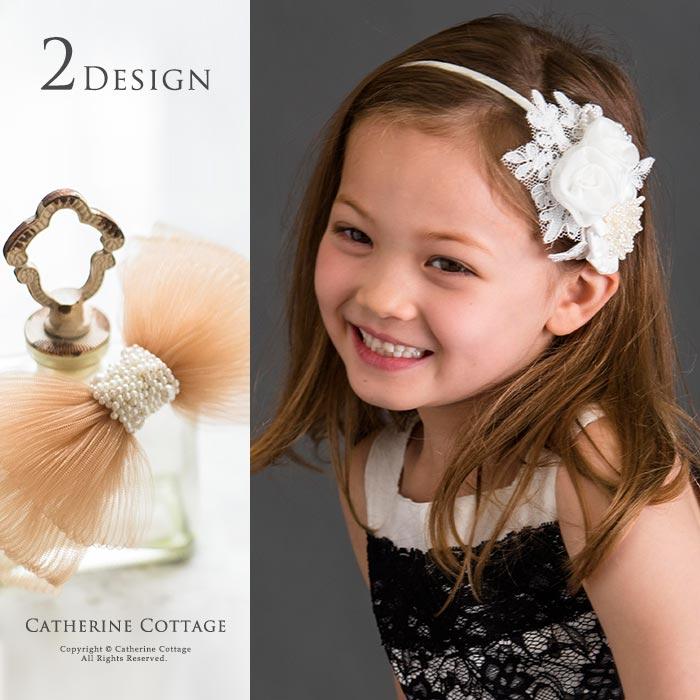 クチュールカチューシャ [presentation wedding ceremony kids four circle accessories  stylish handmade handmade white Whitehead dress hair
