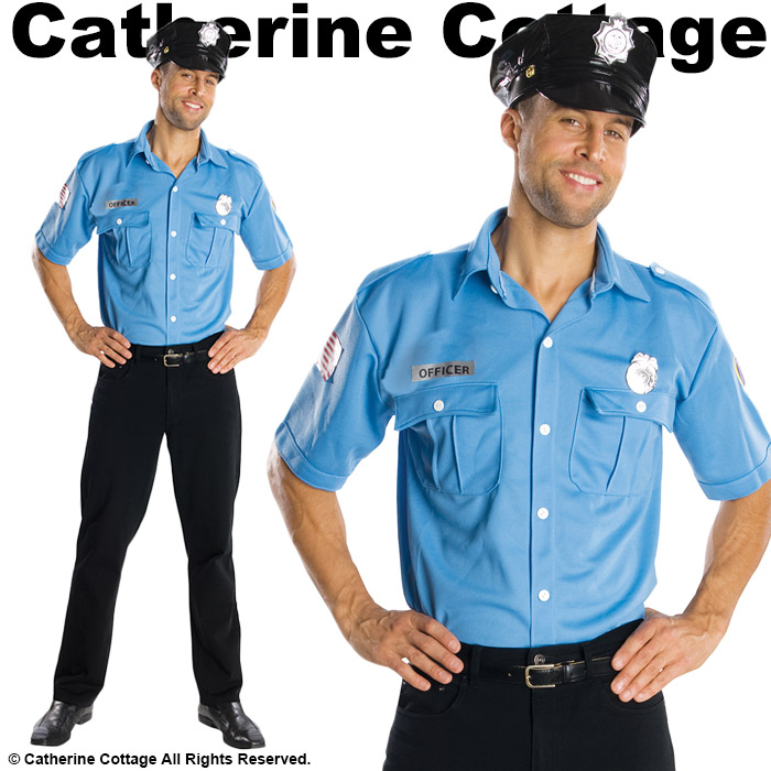 9bf9e9b6f2 Jr. police officer adult costume Halloween cosplay  men boys policeman  costume fancy dress Halloween police cosplay costume couple pair uniform  vocational ...