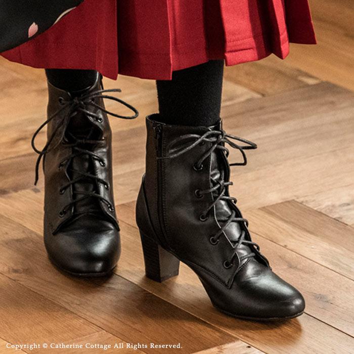 15b6739152fdd 楽天市場 袴用 ブーツ レースアップブーツ 女の子 男の子 黒 卒園式 ...