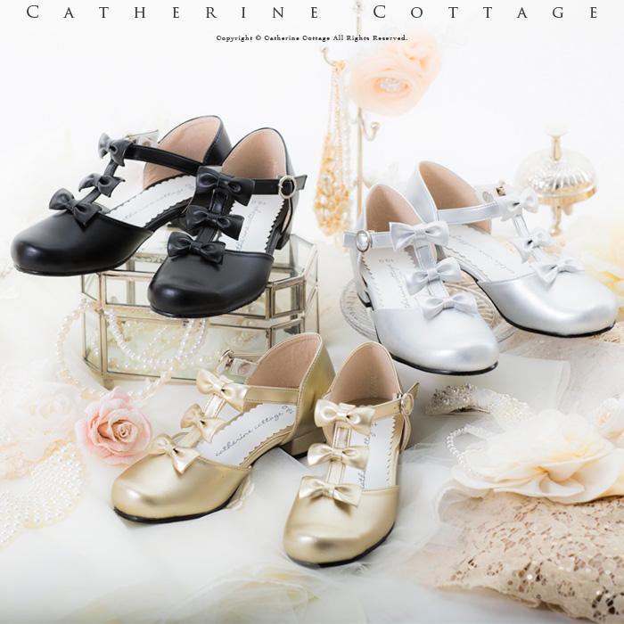 フォーマル 引き出物 子供靴 女の子 結婚式 発表会 卒業 セール品 倉 C36 日本製 リボンTストラップフォーマルシューズ TAK