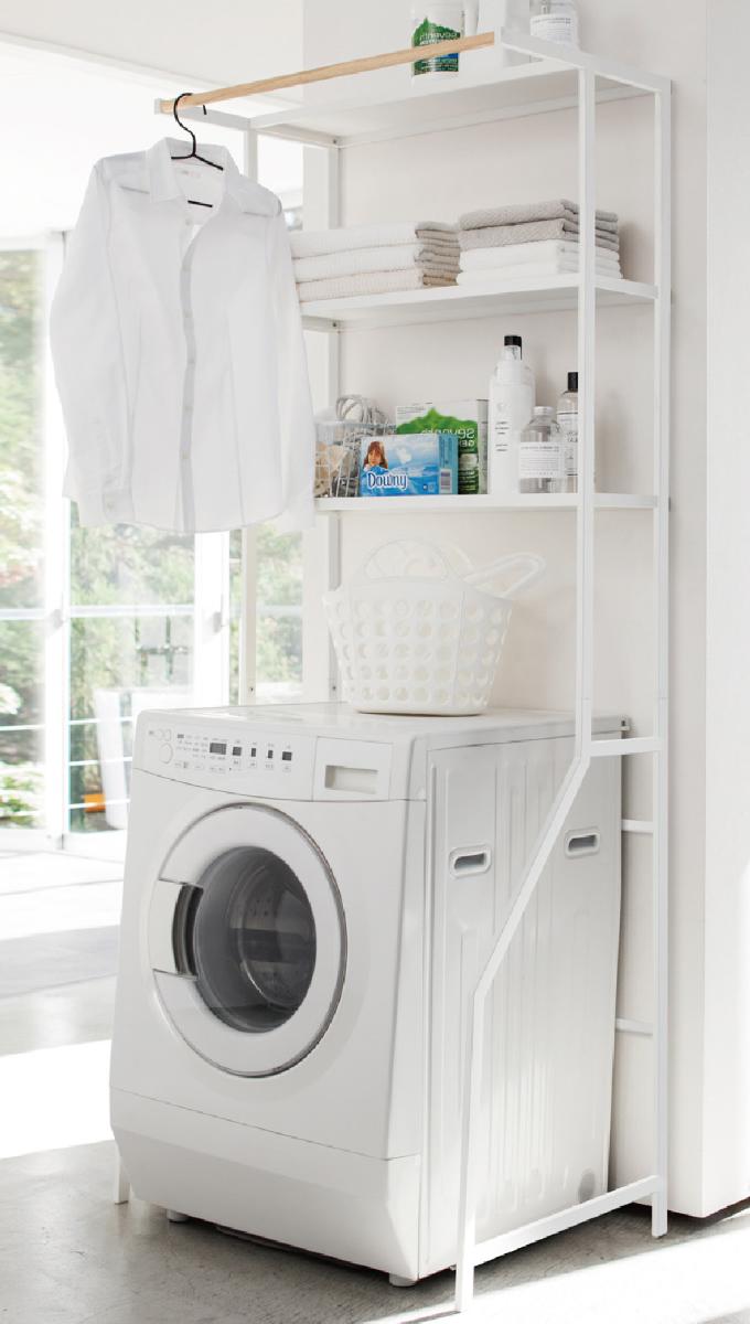 【只今ポイント10倍】洗濯機ラック ランドリーシェルフ 3605 YAMAZAKI]  [tower/タワー] ホワイト 洗濯機上のデッドスペースを収納に替える おしゃれな洗濯機ラックです。タオル、洗剤の収納にも 山崎実業