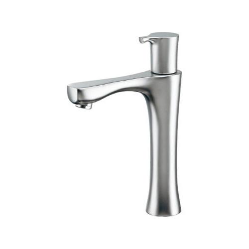 カクダイ 立水栓(ミドル) マットシルバー 受注生産品【716-851-S】[新品] 【沖縄・北海道・離島は送料別途必要です】