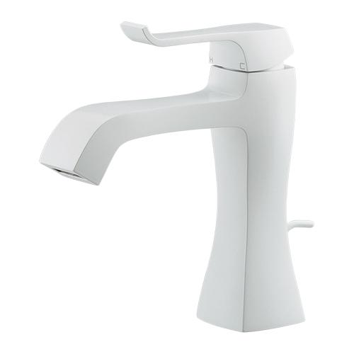 カクダイ KAKUDAI シングルレバー混合栓//ホワイト 【183-161GN-W】 水栓金具・器
