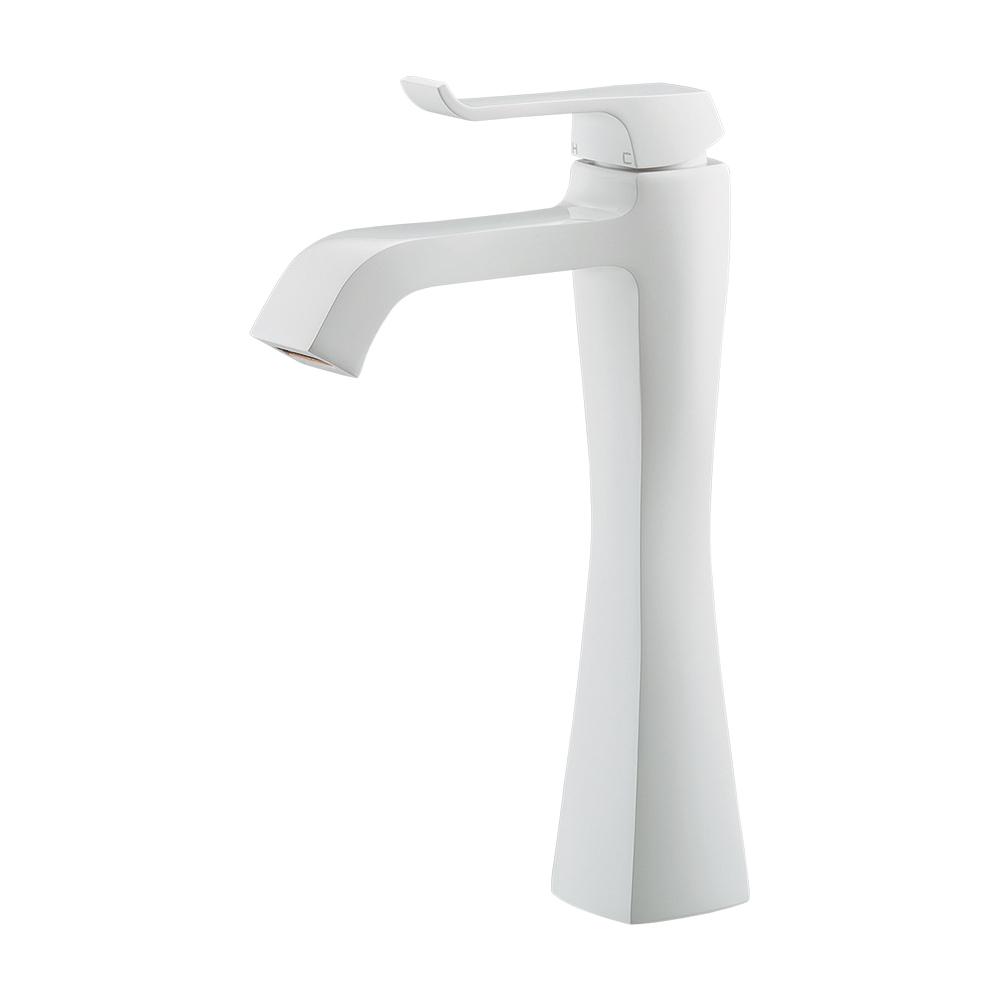 カクダイ KAKUDAI シングルレバー混合栓(ミドル)//ホワイト 【183-163GN-W】 水栓金具・器