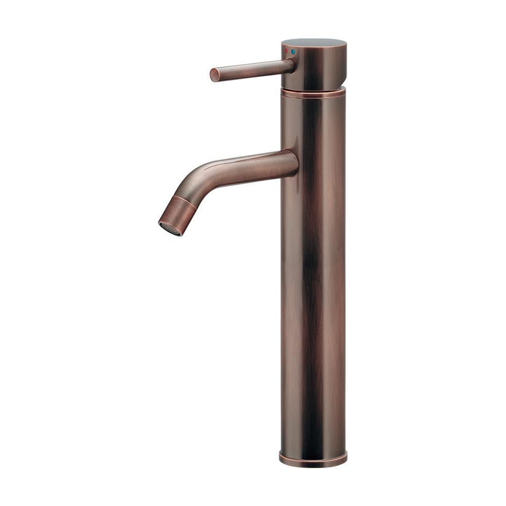 カクダイ KAKUDAI シングルレバー混合栓//ブロンズ 【183-285-BP】 水栓金具・器