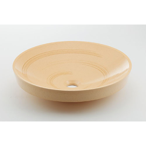 カクダイ KAKUDAI 丸型洗面器//亜麻 【493-049-CR】 水栓金具・器