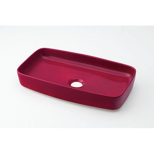 カクダイ KAKUDAI 角型手洗器//ラズベリー 【493-073-R】 水栓金具・器