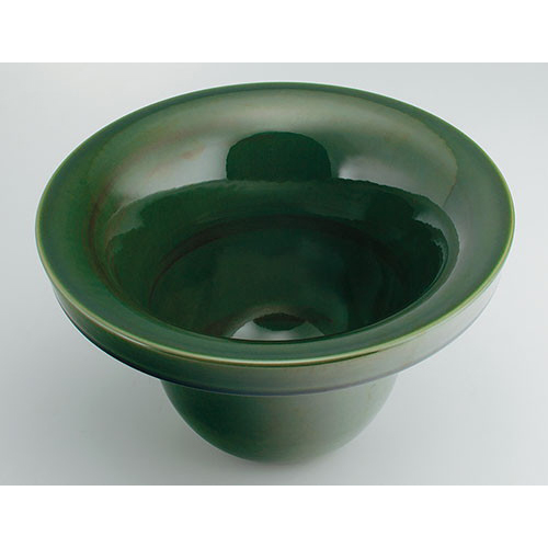 カクダイ KAKUDAI 丸型手洗器//青竹 【493-099-GR】 水栓金具・器