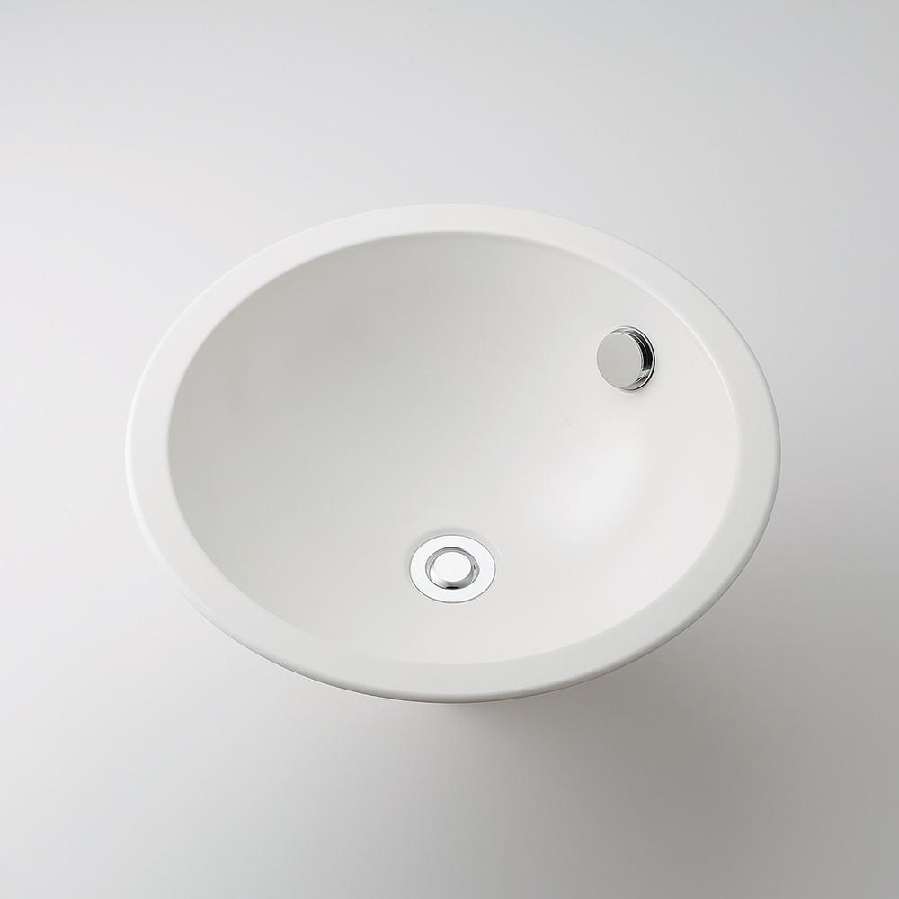 カクダイ KAKUDAI 丸型洗面器//ホワイト 【493-127-W】 水栓金具・器