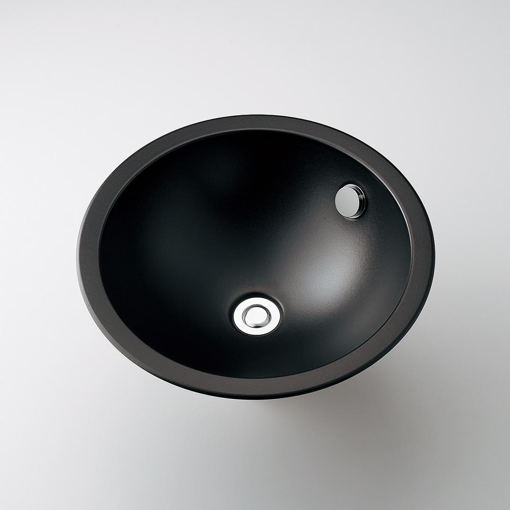 カクダイ KAKUDAI 丸型洗面器//ブラック 【493-128-D】 水栓金具・器