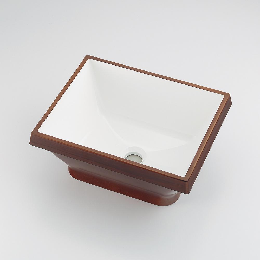 カクダイ KAKUDAI 角型手洗器//ココナッツ 【493-145-DW】 水栓金具・器