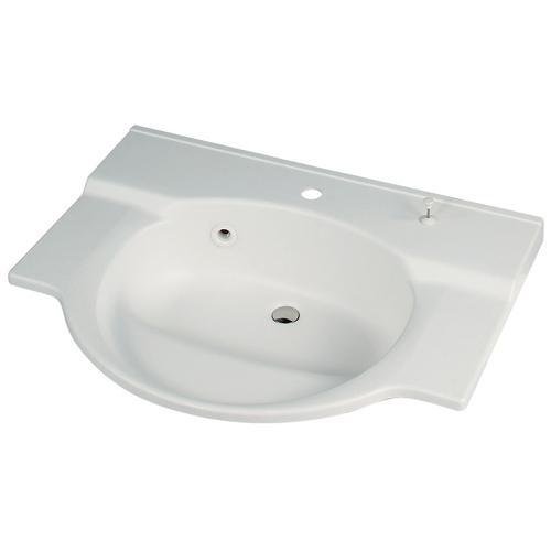 カクダイ KAKUDAI ボウル一体型カウンター//1ホール 【497-024】 水栓金具・器