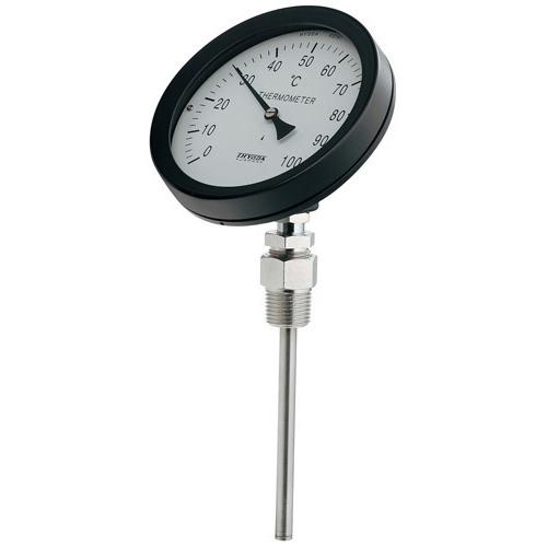 カクダイ KAKUDAI バイメタル製温度計(45度傾斜型) 【649-911-100B】 配管副資材