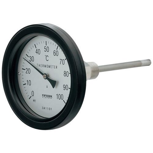 カクダイ KAKUDAI バイメタル製温度計(防水・アングル型) 【649-915-100B】 配管副資材