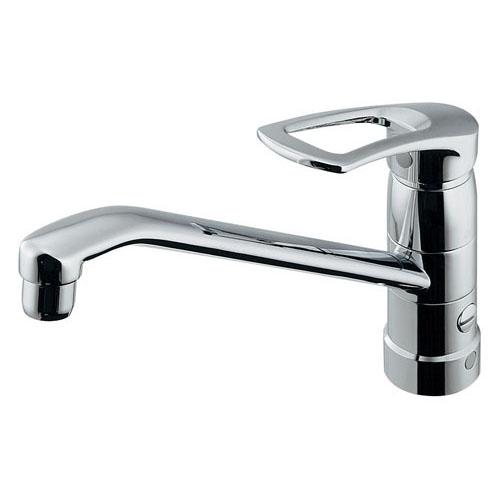 シングルレバー混合栓(分水孔つき) 【117-061K】 【配管資材・水道材料】カクダイ