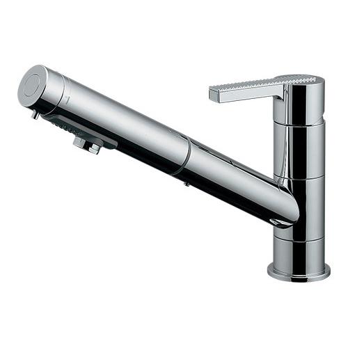 シングルレバー引出し混合栓 【118-132K】 【配管資材・水道材料】カクダイ