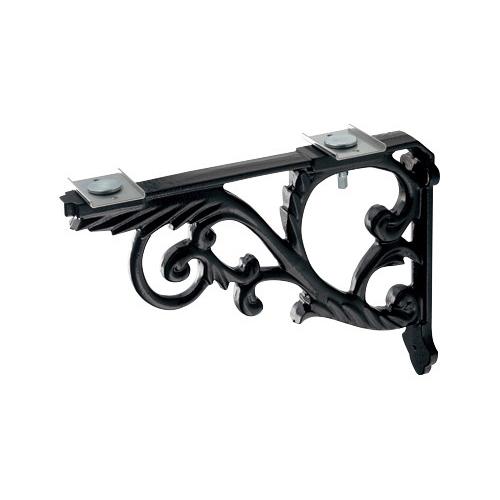 ブラケット//鋳鉄、黒色塗装 【250-005-D】 【配管資材・水道材料】カクダイ