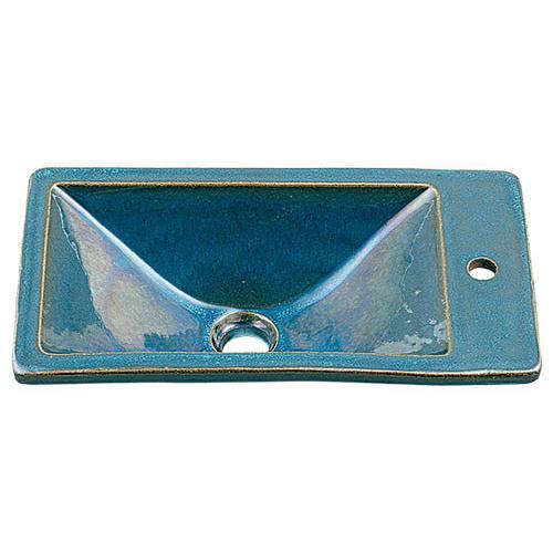 角型手洗器//孔雀 【493-010-CB】 【配管資材・水道材料】カクダイ