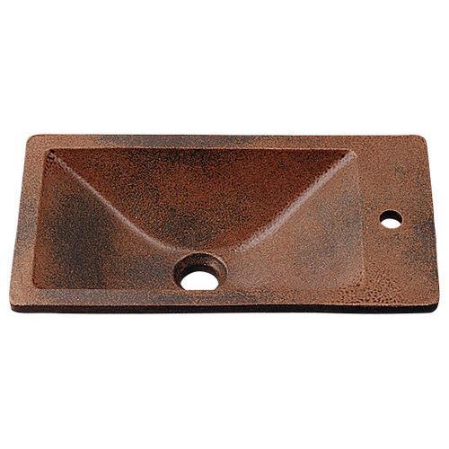 角型手洗器//窯肌 【493-010-M】 【配管資材・水道材料】カクダイ