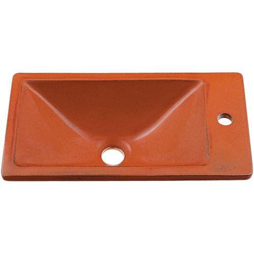 角型手洗器//鉄赤 【493-010-R】 【配管資材・水道材料】カクダイ