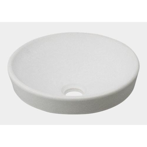 丸型手洗器//月白 【493-012-W】 【配管資材・水道材料】カクダイ
