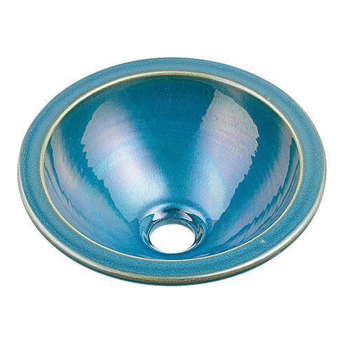 丸型手洗器//孔雀 【493-013-CB】 【配管資材・水道材料】カクダイ