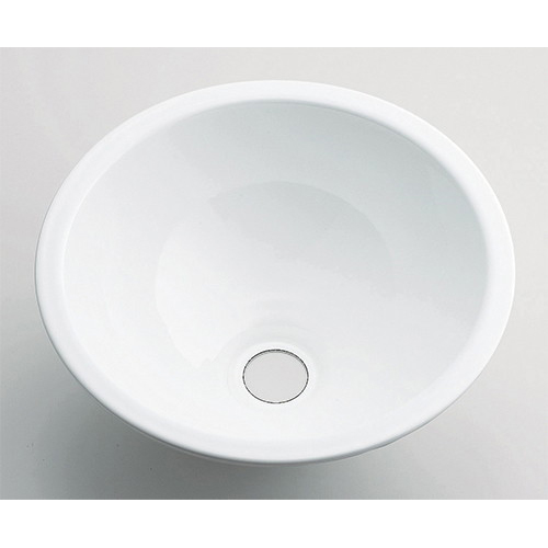 丸型手洗器//ホワイト 【493-026-W】 【配管資材・水道材料】カクダイ
