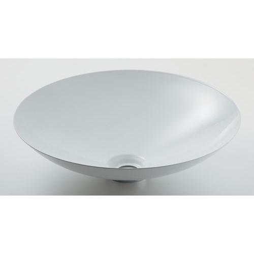 丸型洗面器//ホワイト 【493-045-W】 【配管資材・水道材料】カクダイ