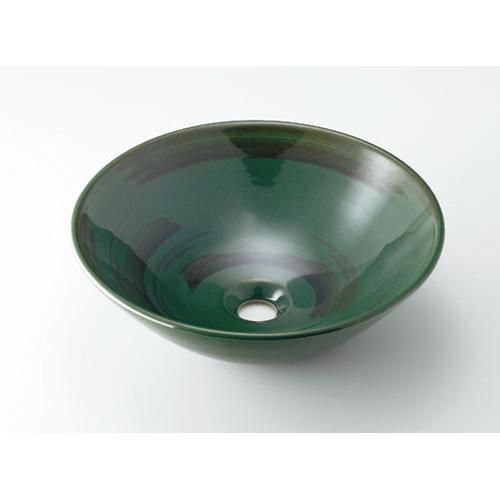 丸型手洗器//青竹 【493-046-GR】 【配管資材・水道材料】カクダイ