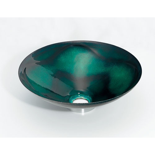 丸型手洗器//緑透 【493-047-GR】 【配管資材・水道材料】カクダイ