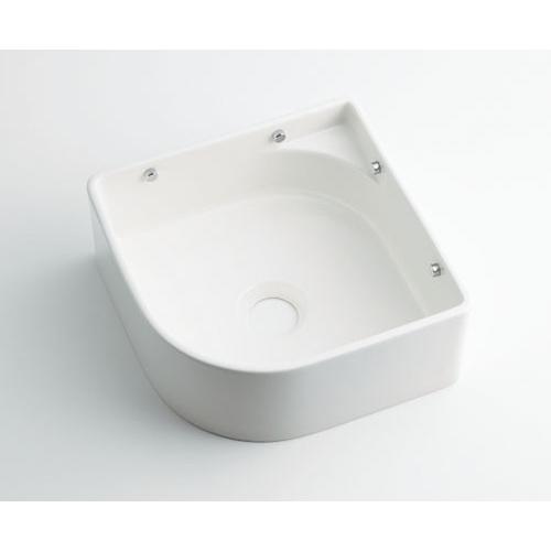 壁掛手洗器//ホワイト 【493-048-W】 【配管資材・水道材料】カクダイ