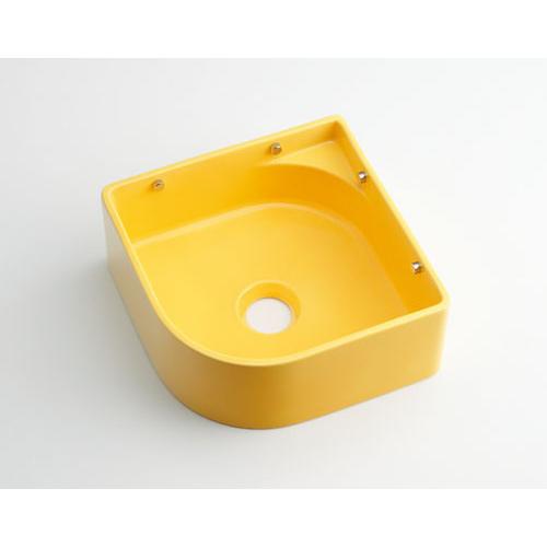 壁掛手洗器//イエロー 【493-048-Y】 【配管資材・水道材料】カクダイ