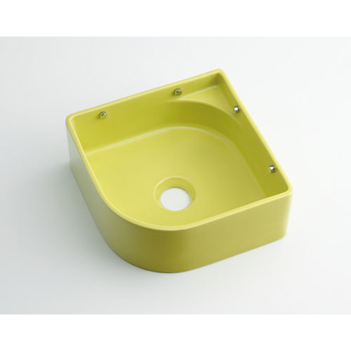 壁掛手洗器//イエローグリーン 【493-048-YG】 【配管資材・水道材料】カクダイ