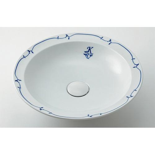 丸型洗面器//シルク 【493-055-W】 【配管資材・水道材料】カクダイ