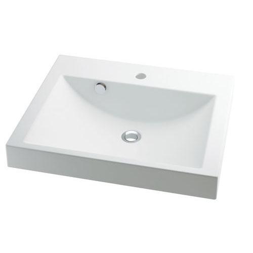 角型洗面器 【493-072】 【配管資材・水道材料】カクダイ