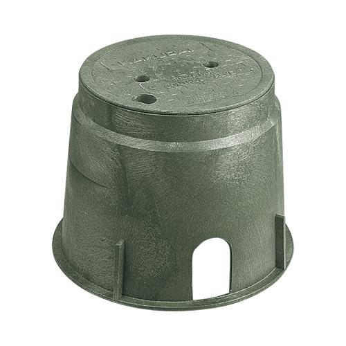 電磁弁ボックス(丸型) 【504-011】 【配管資材・水道材料】カクダイ