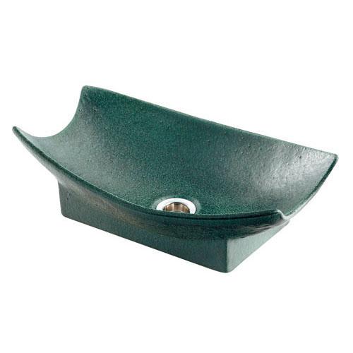 舟型手水鉢(濃茶) 【624-934】 【配管資材・水道材料】カクダイ