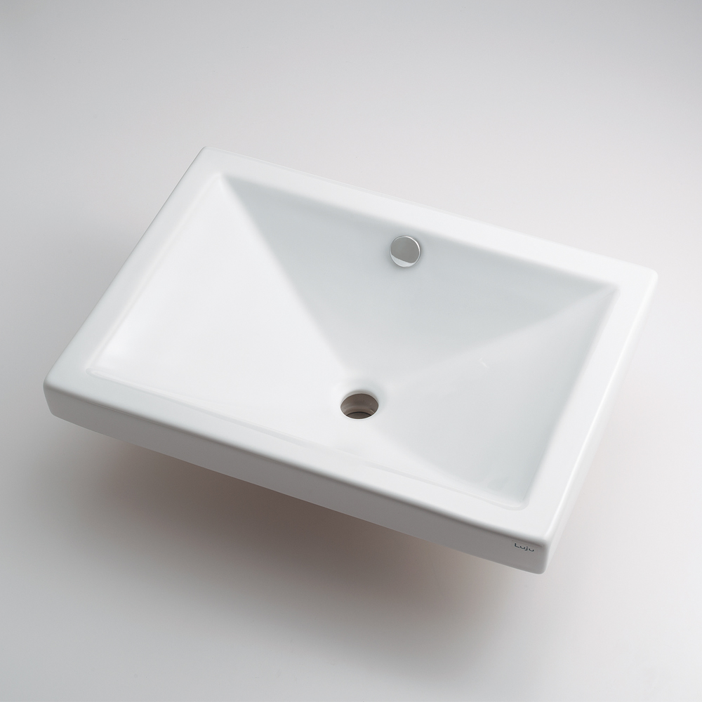 角型洗面器 【493-002】 【配管資材・水道材料】カクダイ