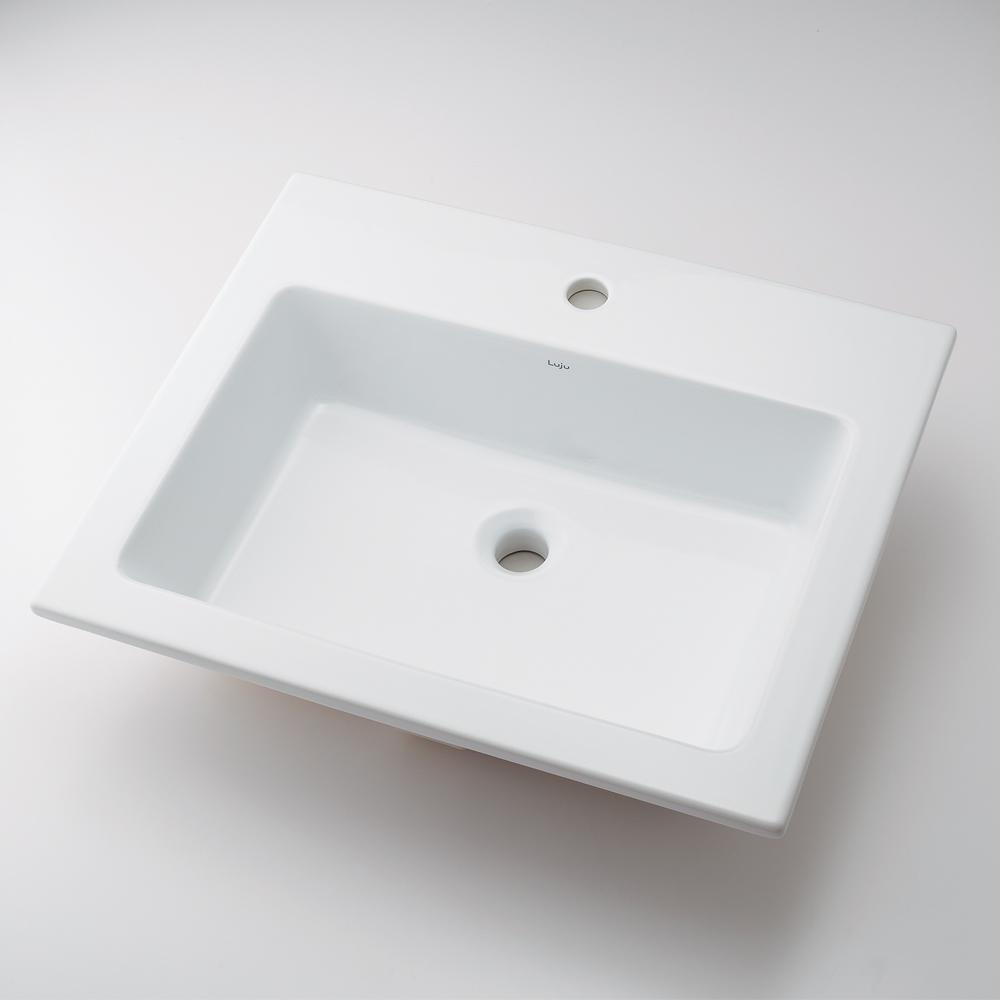 角型洗面器 【493-008 (1ホール)】 【配管資材・水道材料】カクダイ