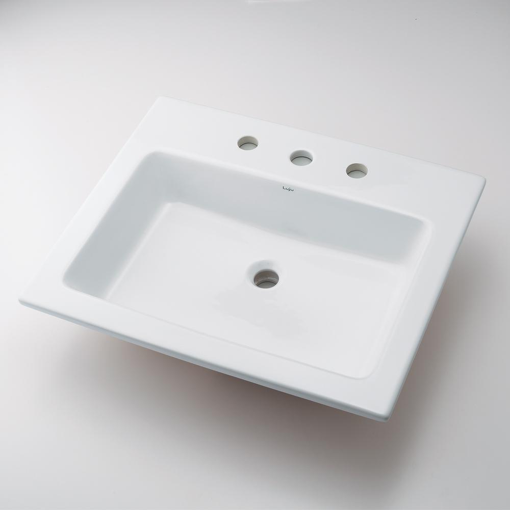 角型洗面器 【493-009 (3ホール)】 【配管資材・水道材料】カクダイ