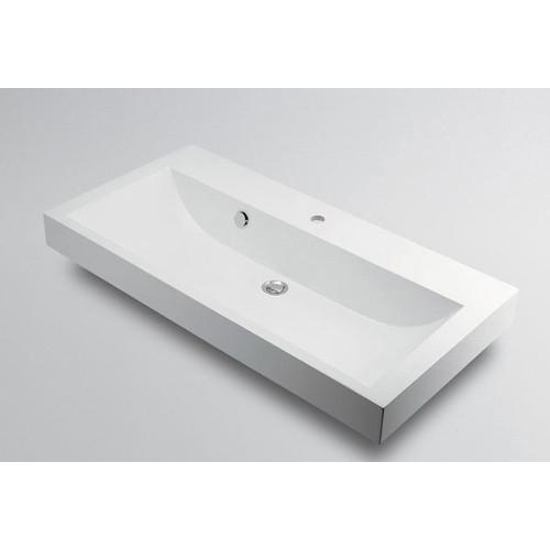 角型洗面器 【493-070-1000 (1ホール)】 【配管資材・水道材料】カクダイ