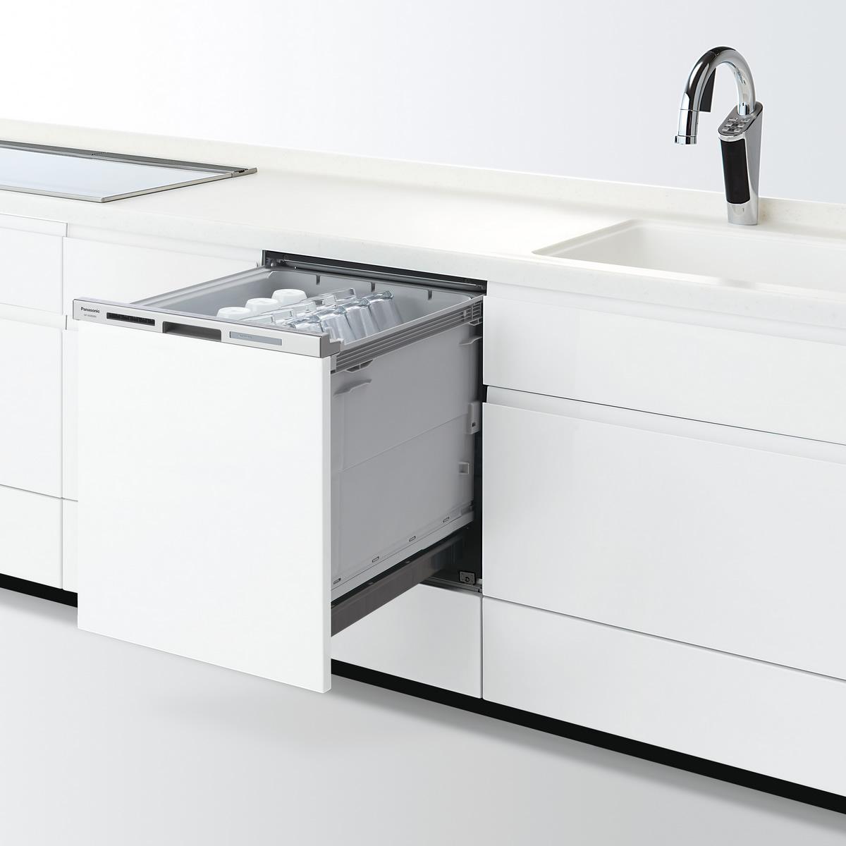 【NP-45MD8W】 パナソニック ビルトイン食器洗い乾燥機(食洗機) M8シリーズ 幅45cm ディープタイプ ドア面材型