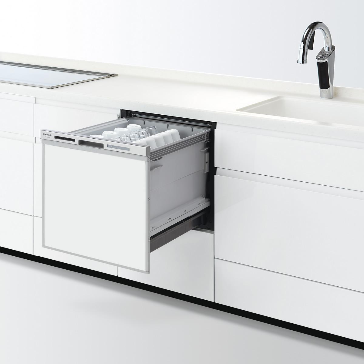 【NP-45MS8S】 パナソニック ビルトイン食器洗い乾燥機(食洗機) M8シリーズ 幅45cm ミドルタイプ ドアパネル型