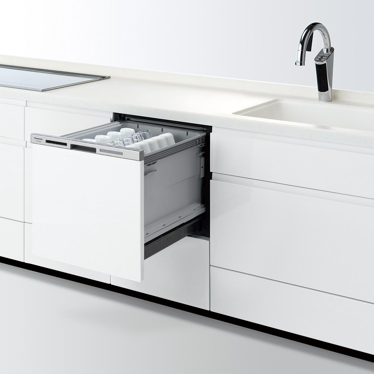 【NP-45MS8W】 パナソニック ビルトイン食器洗い乾燥機(食洗機) M8シリーズ 幅45cm ミドルタイプ ドア面材型