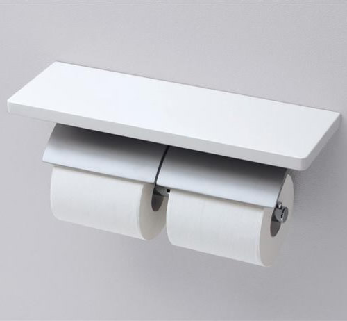 【YH63BKM】(芯棒可動タイプ) TOTO アクセサリー 棚付二連紙巻器[マットタイプ] トイレットペーパーホルダー 【せしゅるは全品送料無料】【セルフリノベーション】