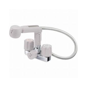 三栄水栓 ツーバルブスプレー混合栓(洗髪用)【K3104V-LH-13】【K3104VLH13】[新品] [SANEI] 水栓【セルフリノベーション】