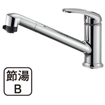 三栄水栓 シングルワンホールスプレー混合栓【K87101JV-13】【K87101JV13】[新品] [SANEI] 水栓