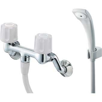 三栄水栓 ツーバルブシャワー混合栓【SK110-LH-13】【SK110LH13】[新品]【水栓・SANEI】